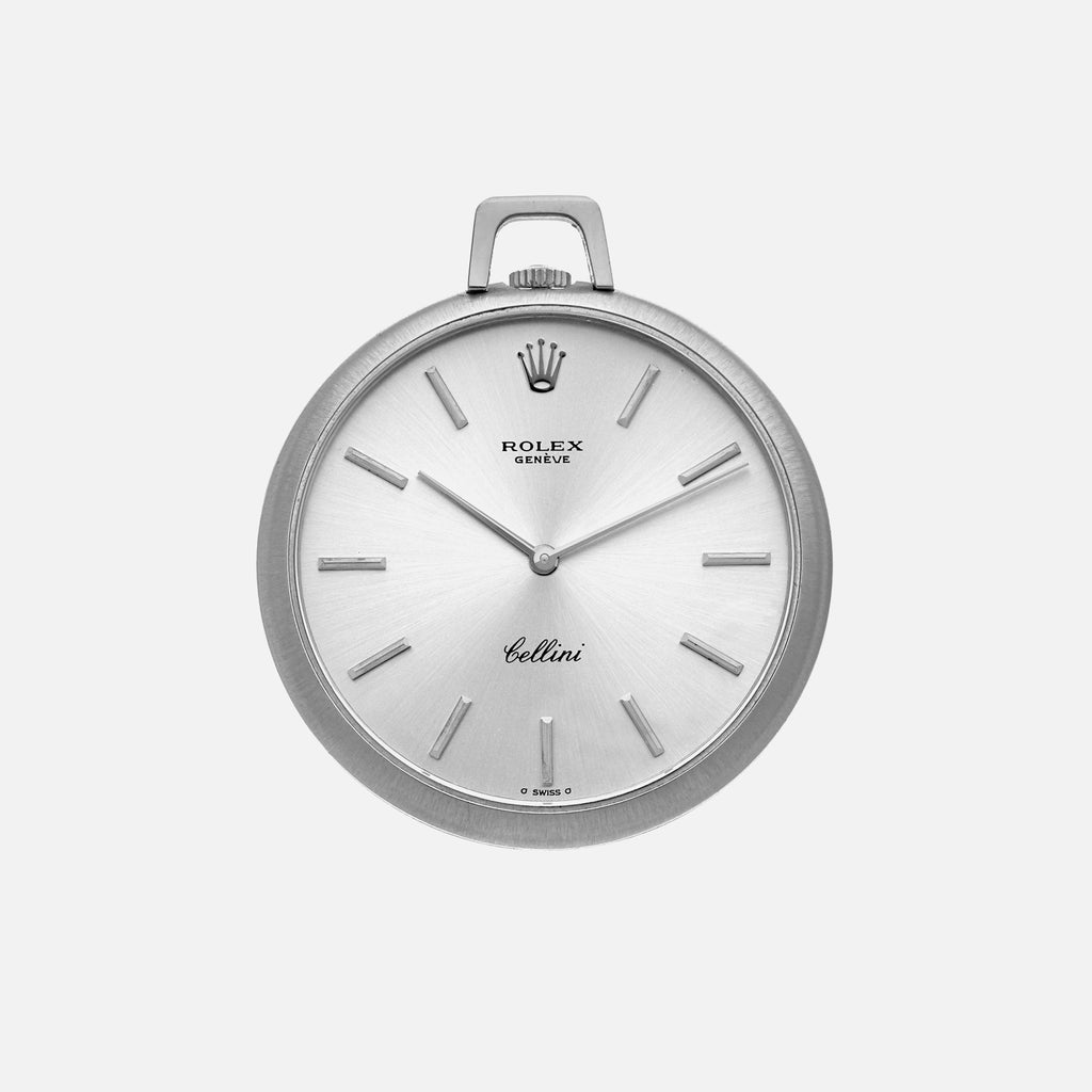 1976 Rolex Cellini White Gold Pocket Watch Ref. 3718