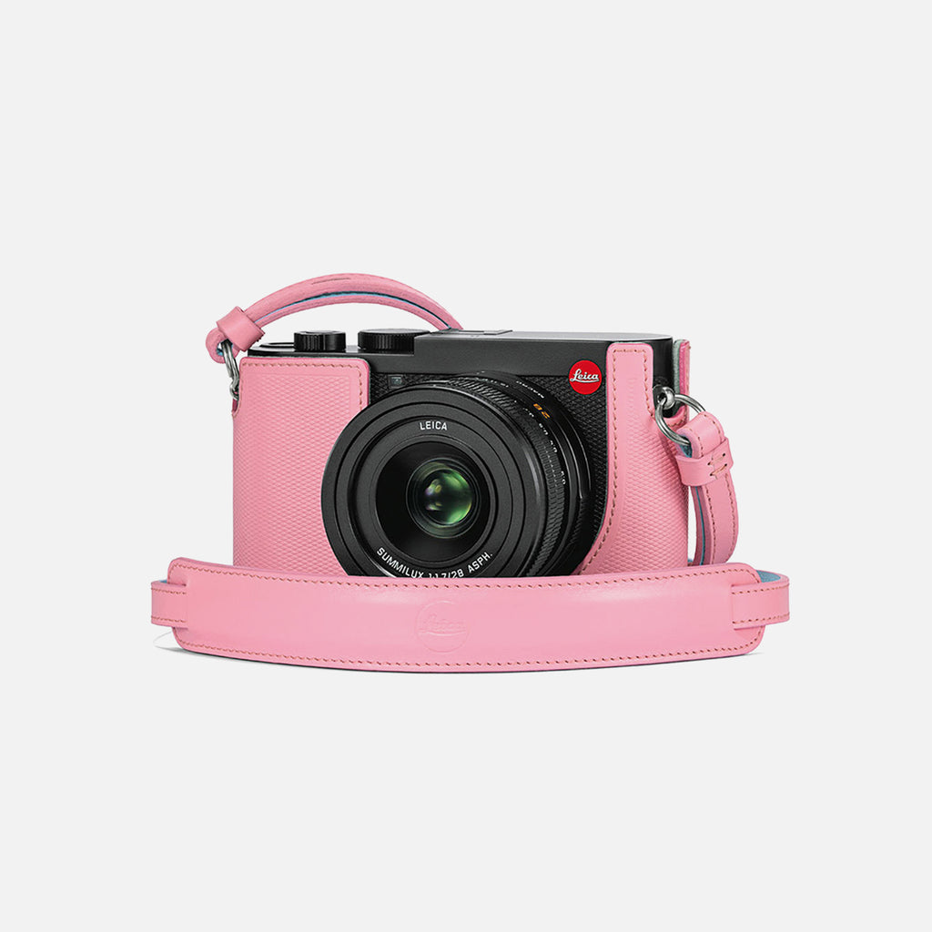 Leica Q2 Camera Protective Case In Pink Leather