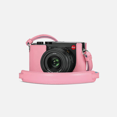 Leica Q2 Camera Carrying Strap In Pink Leather