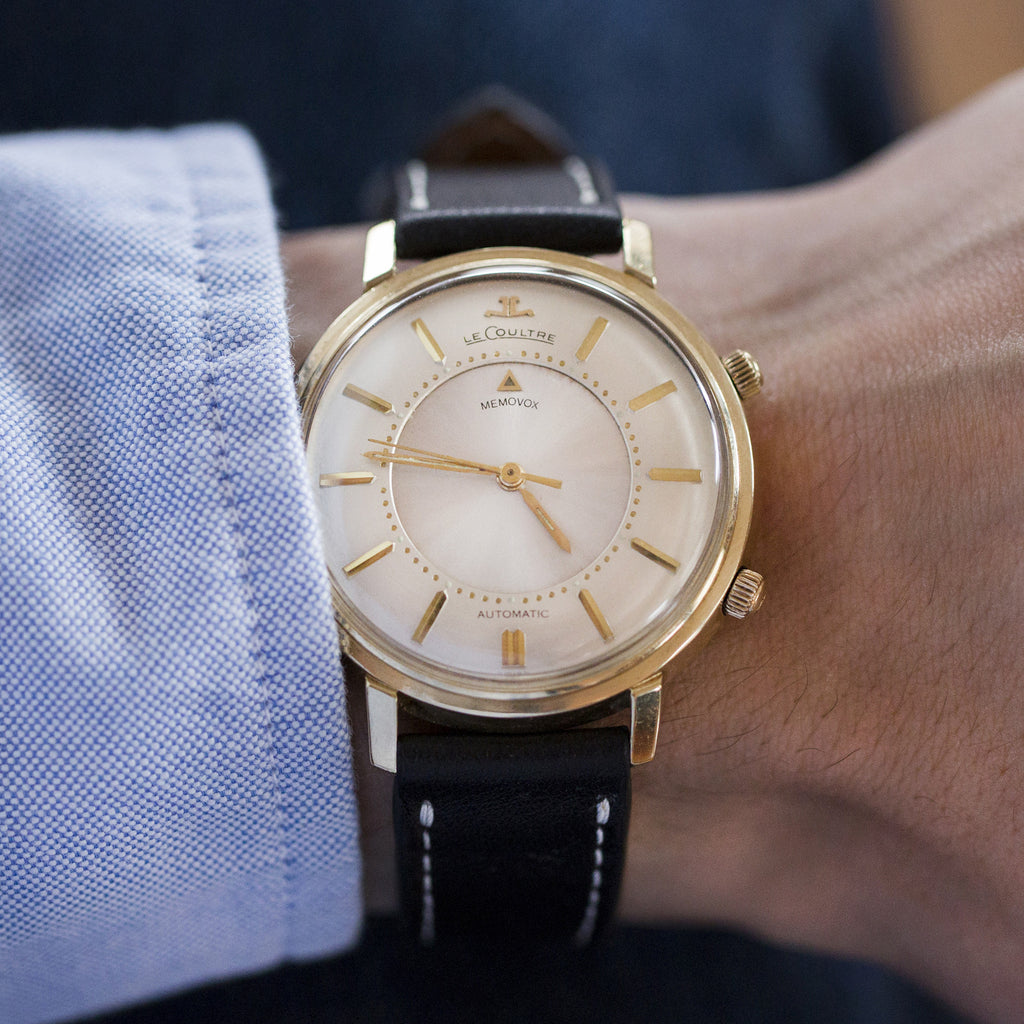 1960s LeCoultre Memovox In Yellow Gold