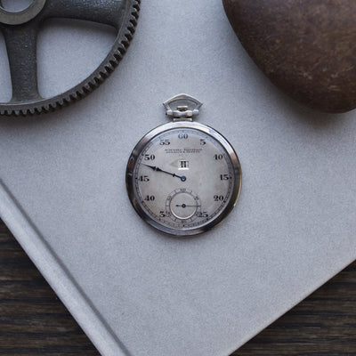 1924 Audemars Piguet Jumping Hour Pocket Watch In White Gold alternate image.