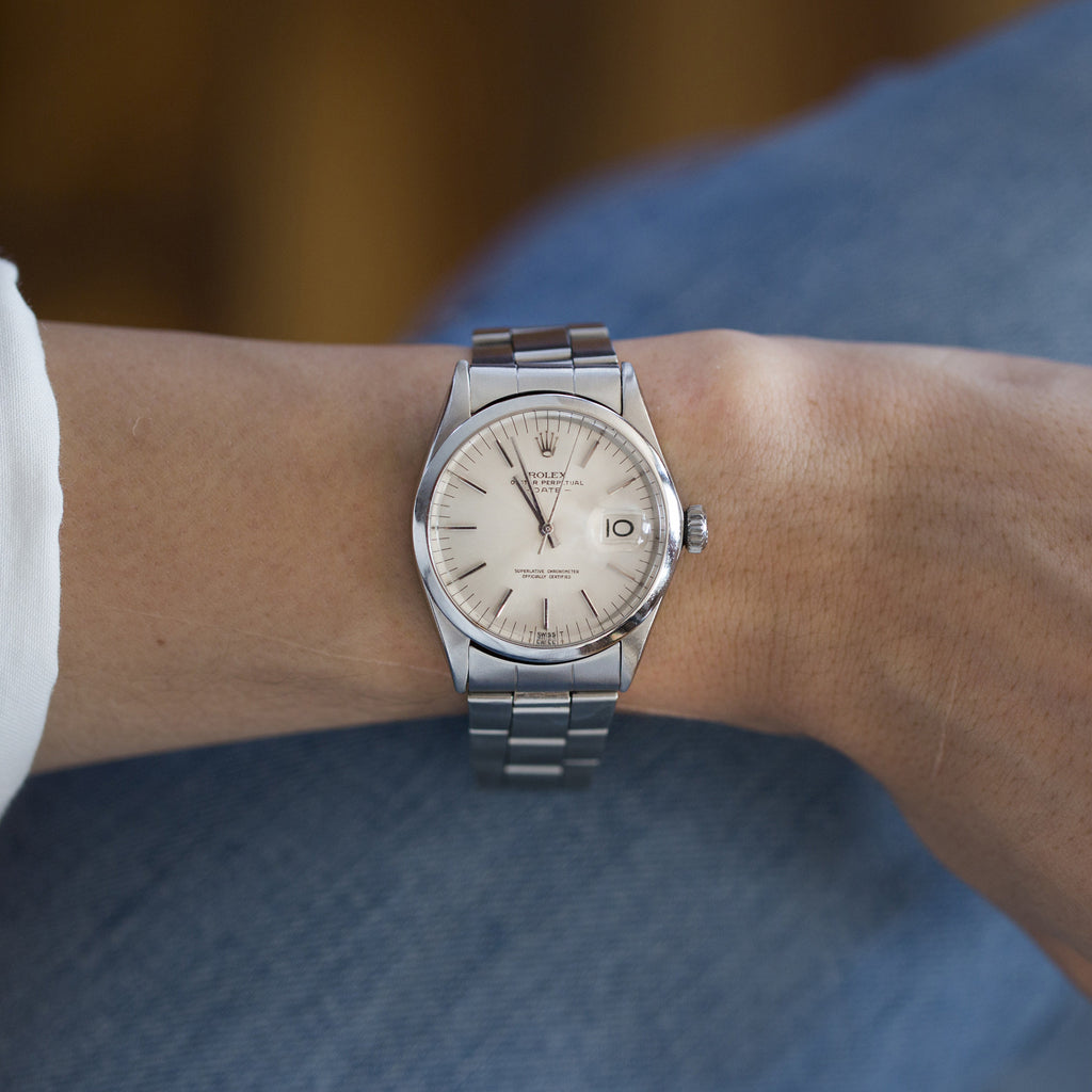 1970 Rolex Oyster Perpetual Date Reference 1500 With No Lume