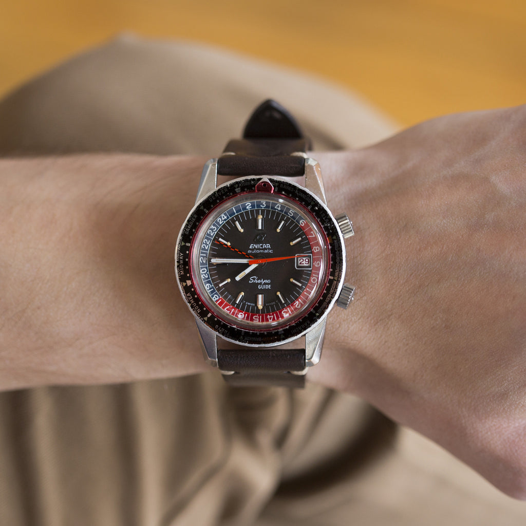 1960s Enicar Sherpa Guide 600 With GMT Complication