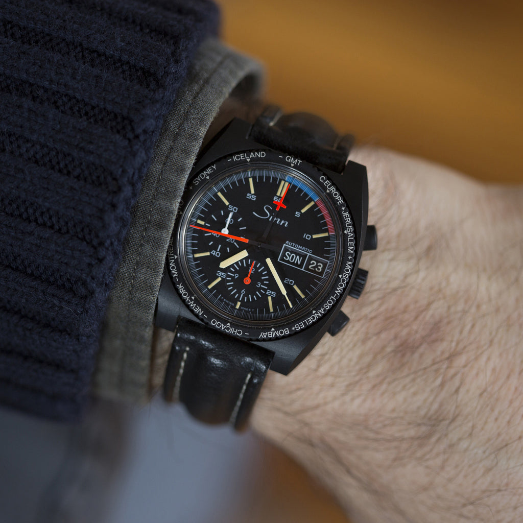 1980s Sinn Chronograph Reference 143 With World-Timer Bezel