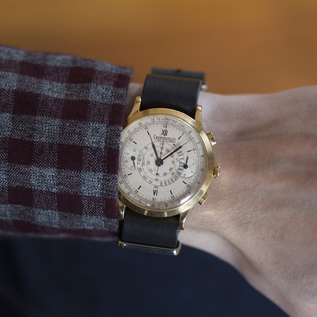 1940s Eberhard & Co. Chronograph In Yellow Gold