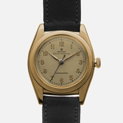 1946 Rolex Oyster Perpetual 'Bubbleback' Ref. 3131 In 14k Yellow Gold