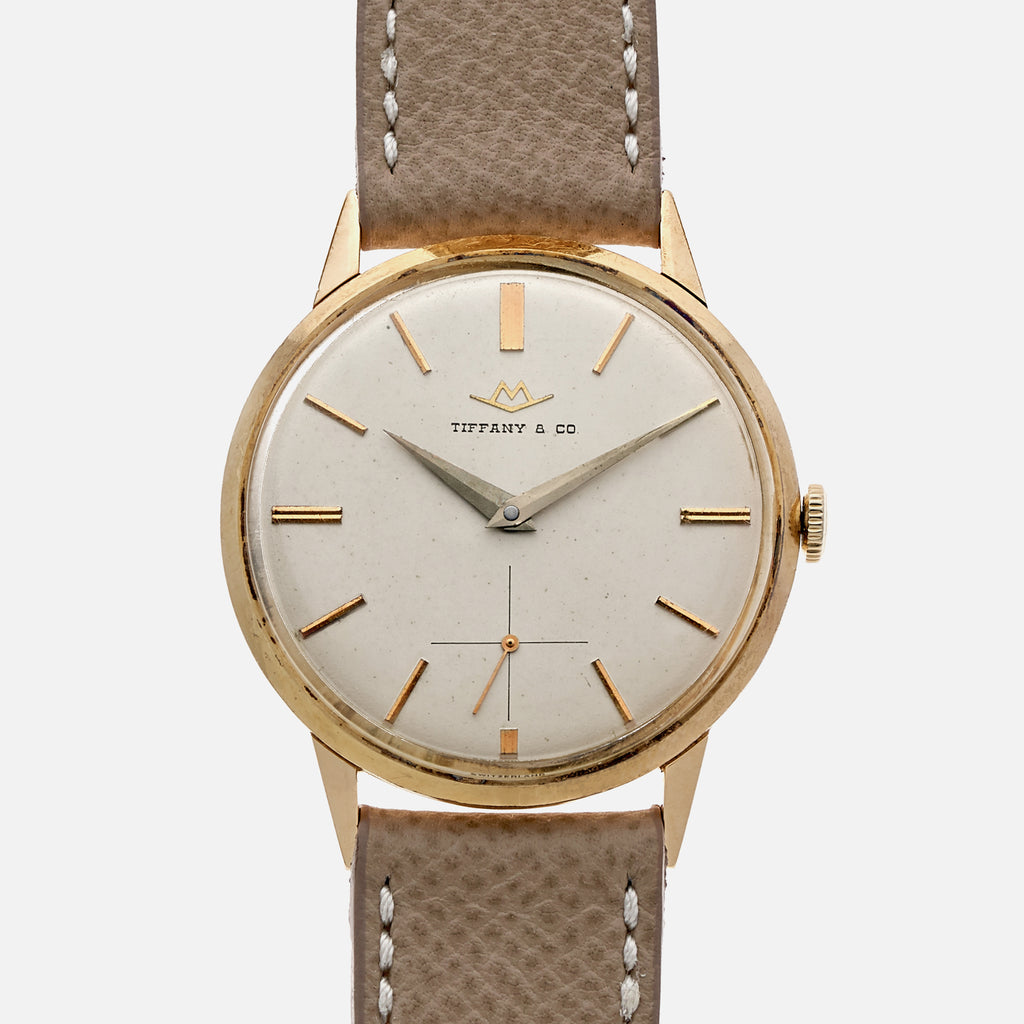 1960s Tiffany & Co. Dress Watch By Movado In 14k Yellow Gold