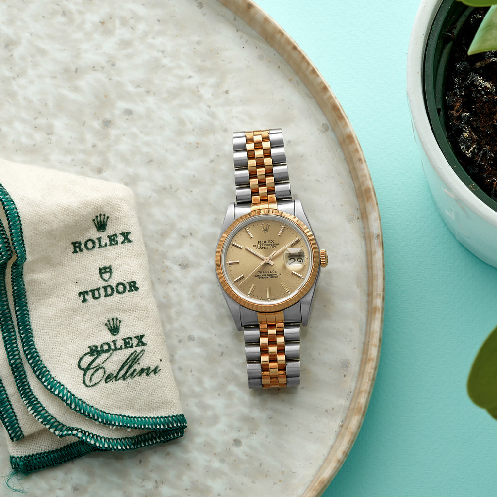 1987 Rolex Datejust Ref. 16233 Retailed by Tiffany & Co. In Two Tone