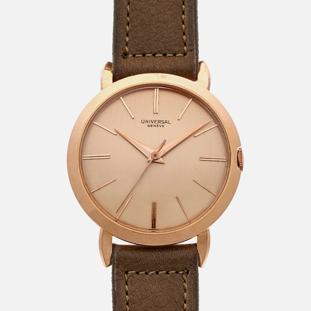 1956 Universal Genève Dress Watch Ref. 106555/1 In Pink Gold