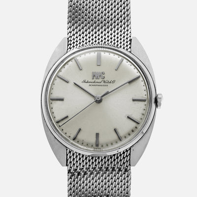 1960s IWC Dress Watch In Steel With Original Bracelet