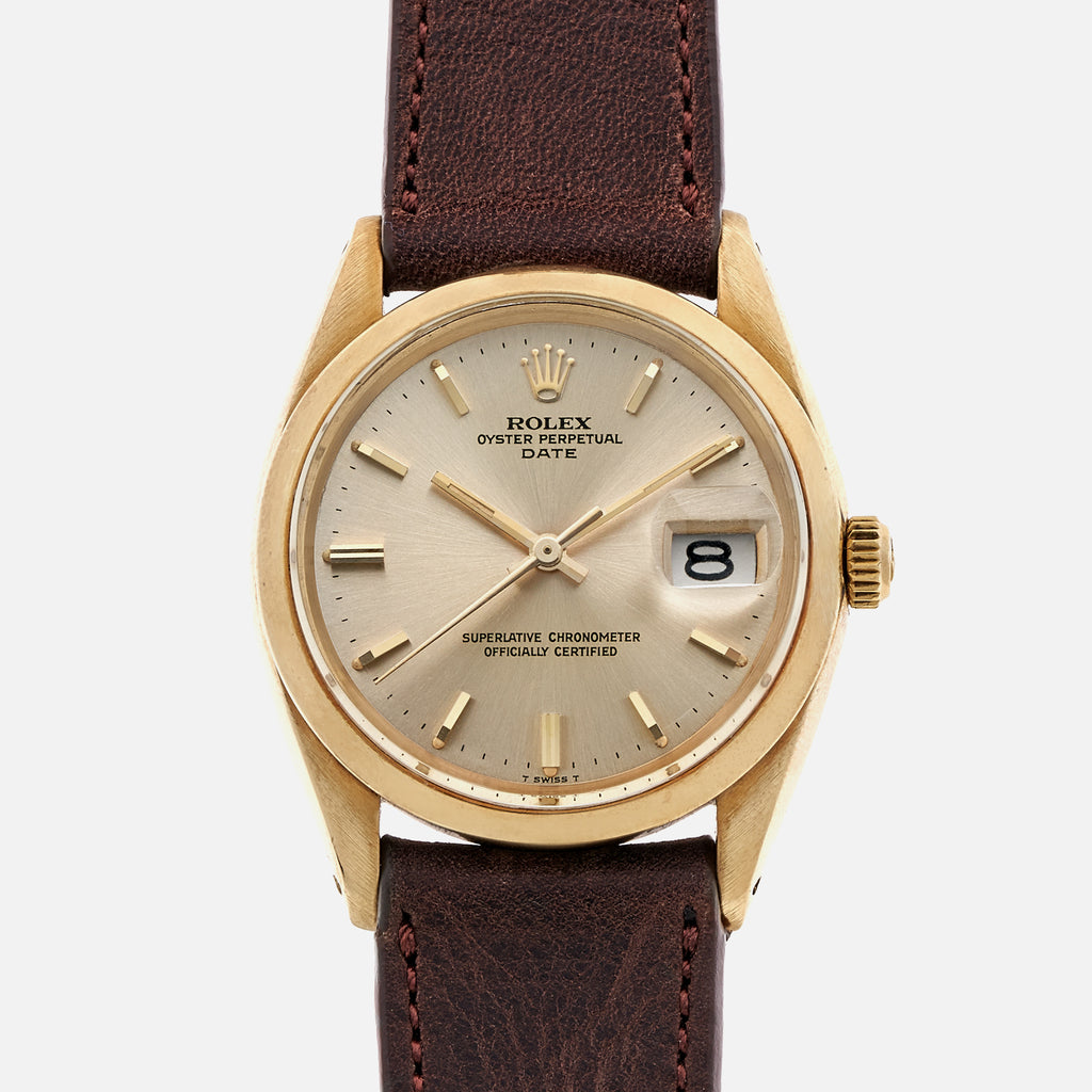 1968 Rolex Date Ref. 1500 In 14k Yellow Gold