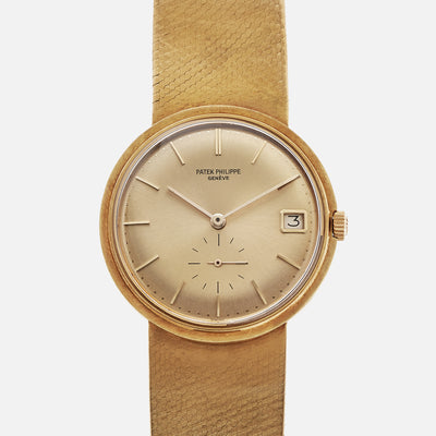 1968 Patek Philippe Ref. 3445/6 In 18k Yellow Gold With Integrated Bracelet