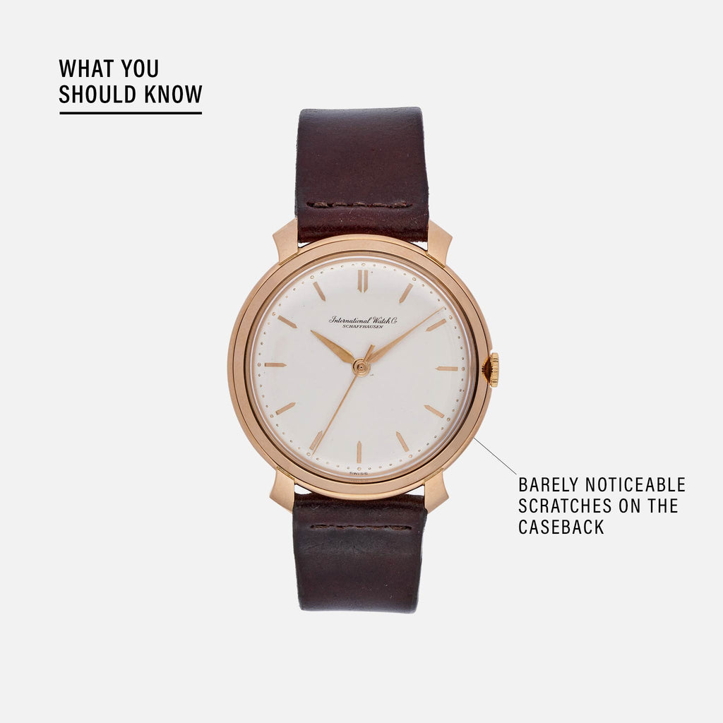 1960s IWC Dress Watch In Rose Gold