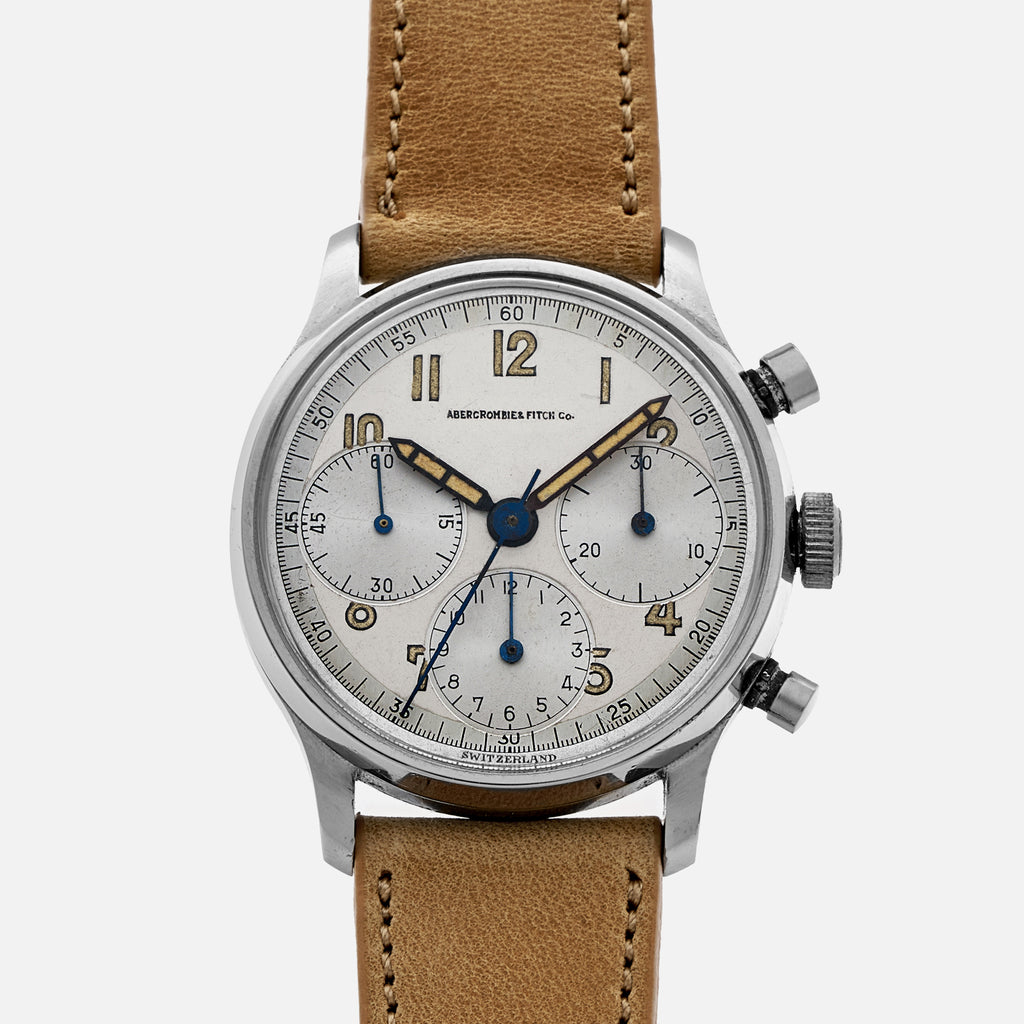 1940s Abercrombie & Fitch By Heuer 'Oversized' Chronograph