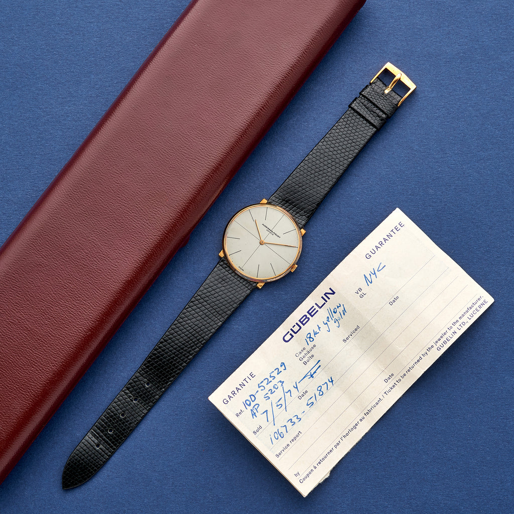 1968 Audemars Piguet Dress Watch In 18k Yellow Gold With Box And Papers