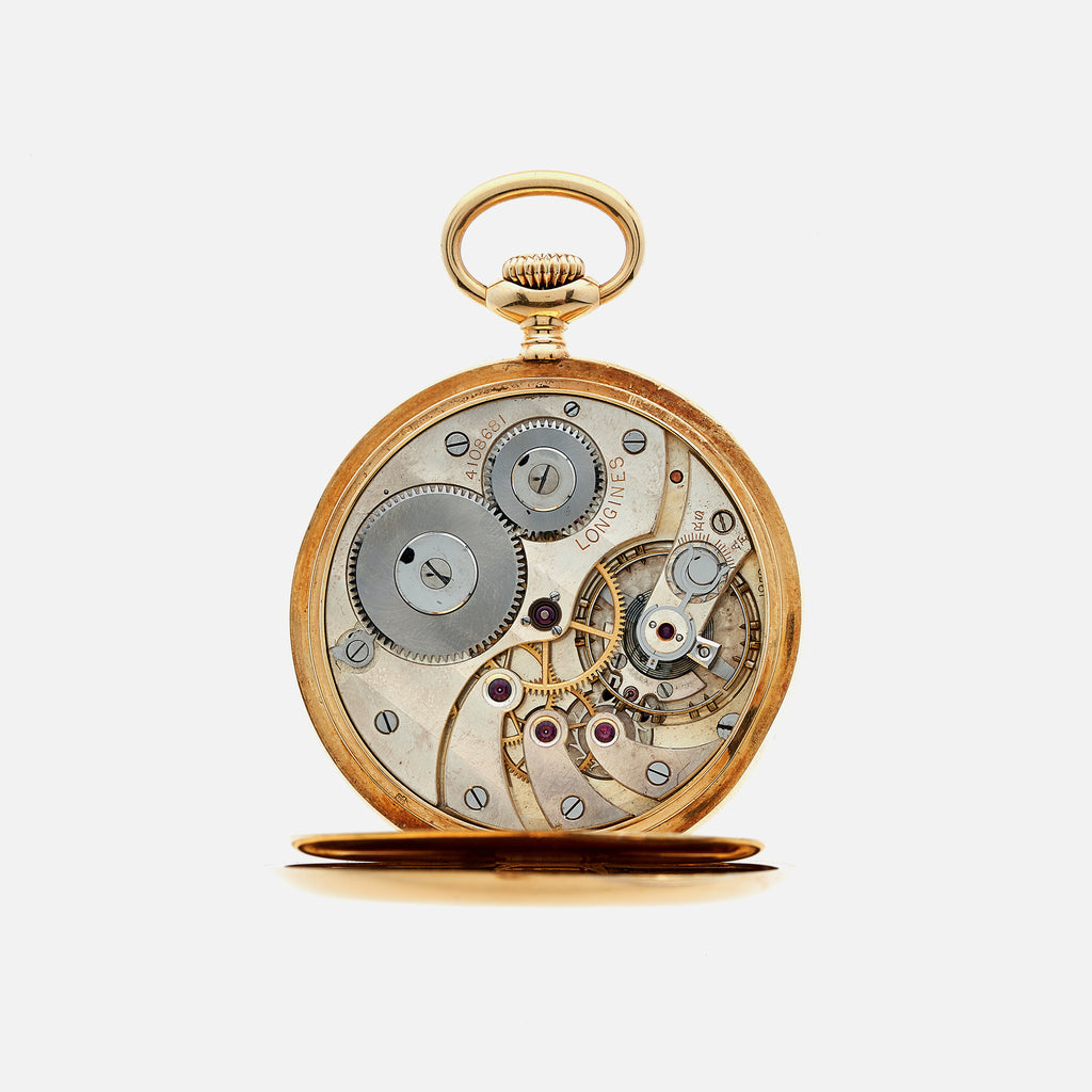1927 Longines Pocket Watch Chronometer In 18k Yellow Gold
