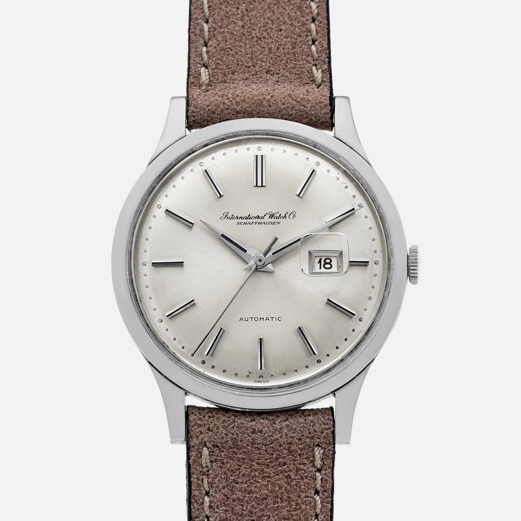 1960s IWC Automatic Date Dress Watch Ref. 647A In Steel