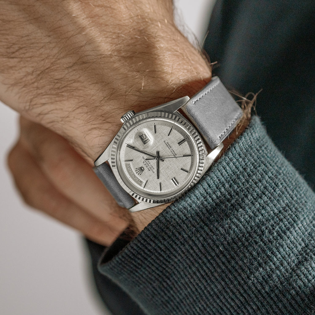 1972 Rolex Day-Date Ref. 1803 'Linen Dial' In 18k White Gold