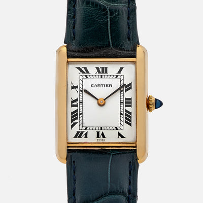 1970s Cartier Tank In 18k Yellow Gold