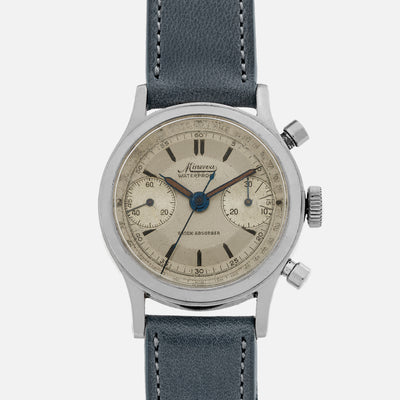 1940s Minerva Chronograph Ref. 1335 With Two-Tone Dial