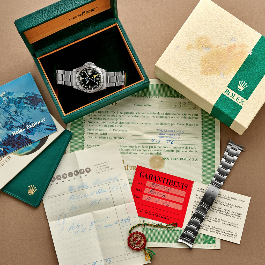 1974 Rolex Explorer II 'Straight Hand' Ref. 1655 With Full Kit