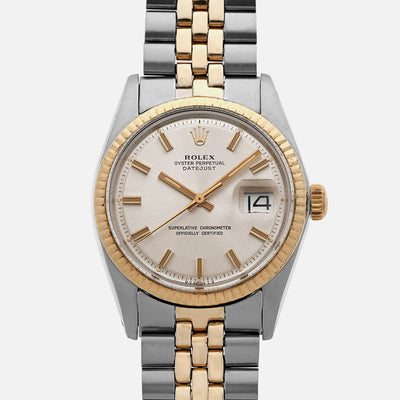 1974 Rolex Datejust 'Wide Boy' Ref. 1601 In Two Tone