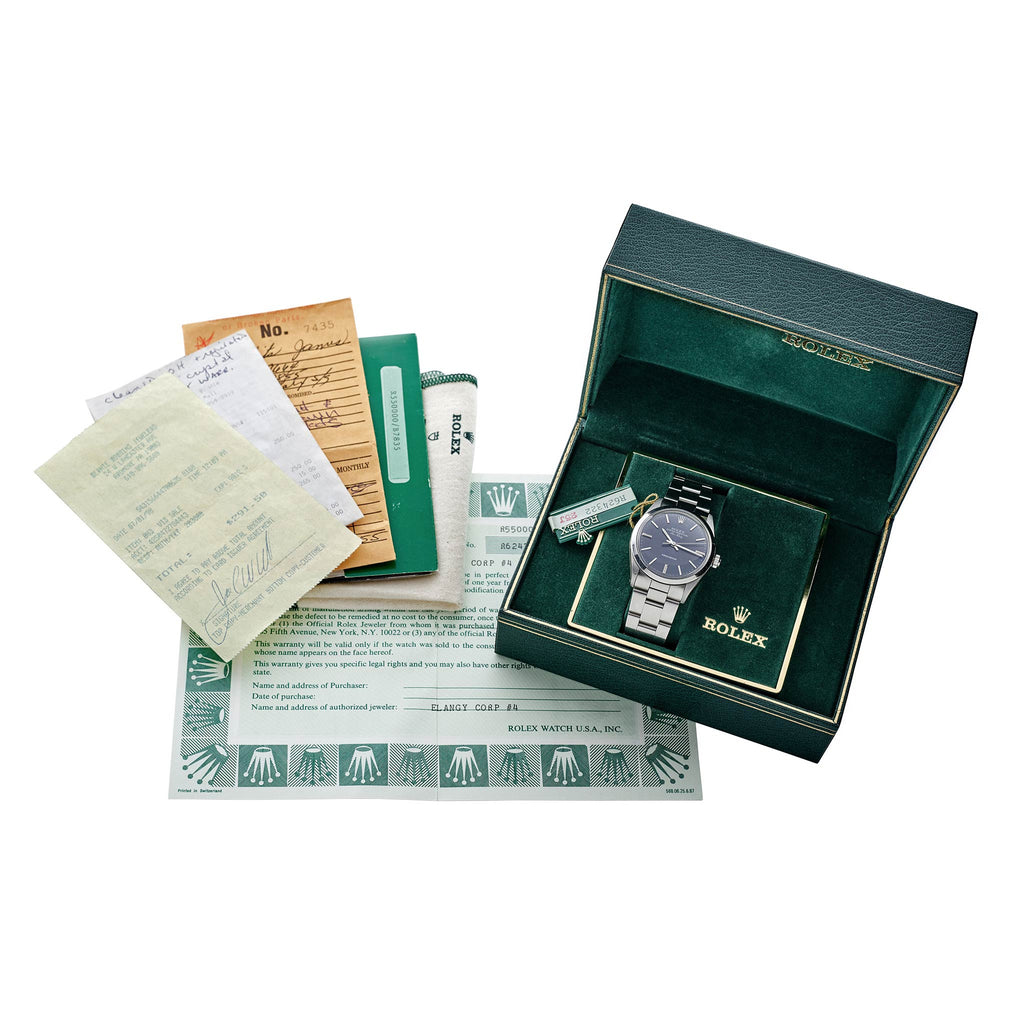 1987 Rolex Air-King Precision Reference 5500 With Box And Papers