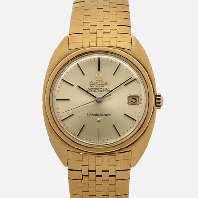 1960s Omega Constellation Ref. 168.009 / 168.017 In 18k Yellow Gold