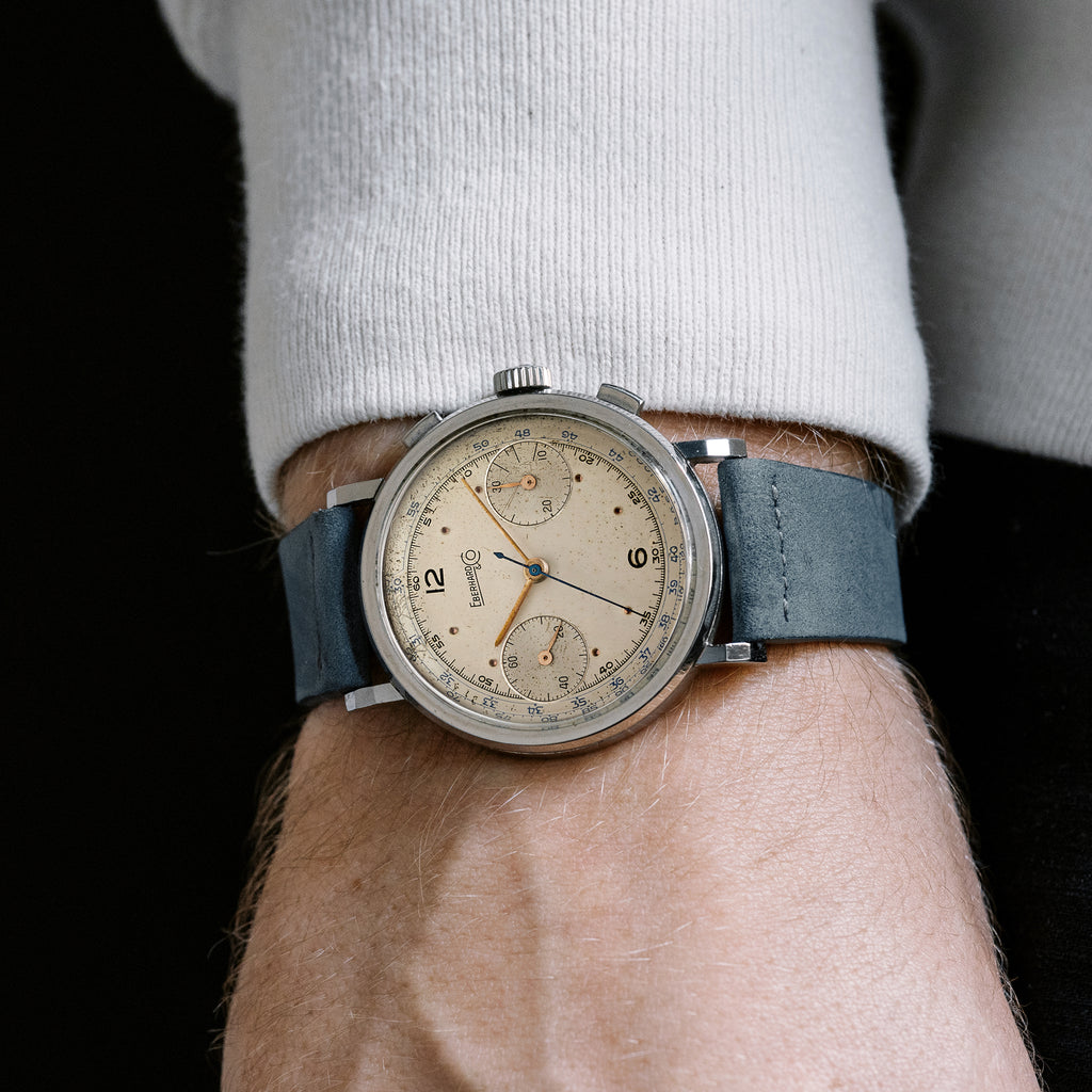 1940s Eberhard & Co. Pre-Extra Fort Single-Button Chronograph