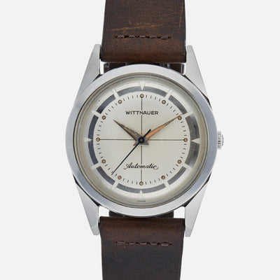1950s Wittnauer Automatic With Cross-Hair Mirrored Dial