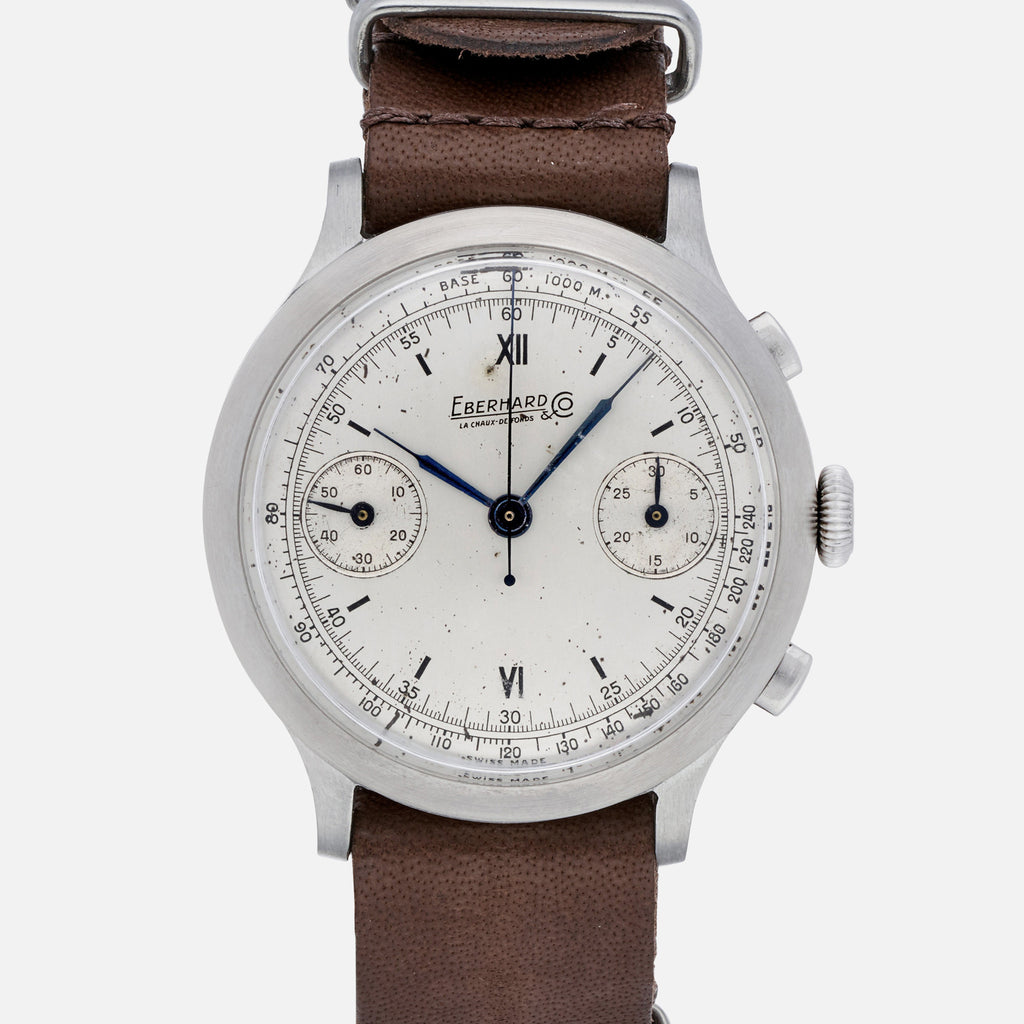 1940s Eberhard & Co. Pre-Extra Fort Chronograph