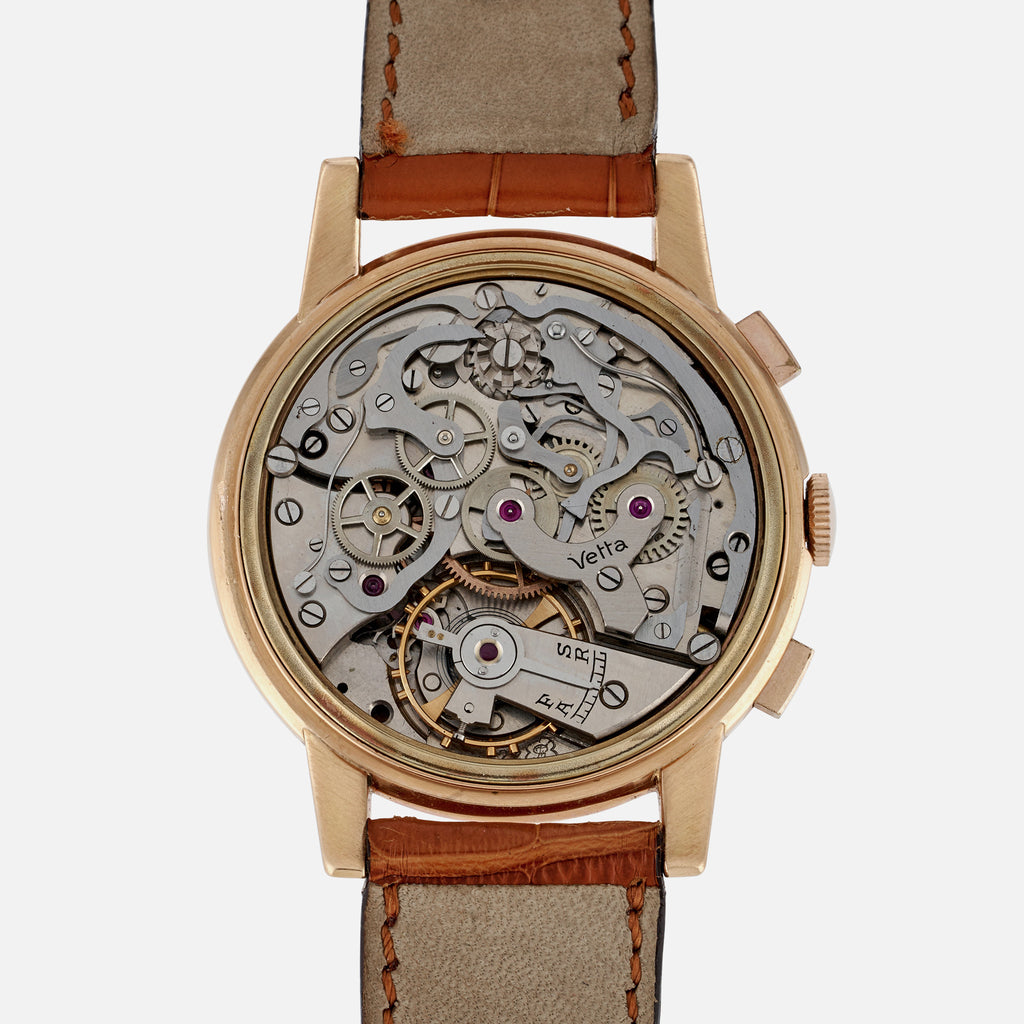 1950s Vetta Antimagnetic Chronograph In Pink Gold