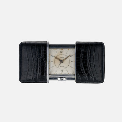 1930s Hermès 'Ermeto' 8-Day Alarm Travel Desk Clock Produced By Movado