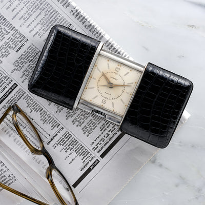 1930s Hermès 'Ermeto' 8-Day Alarm Travel Desk Clock Produced By Movado alternate image.