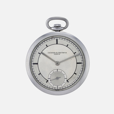 1930s Vacheron Constantin Sector Dial Pocket Watch In Steel