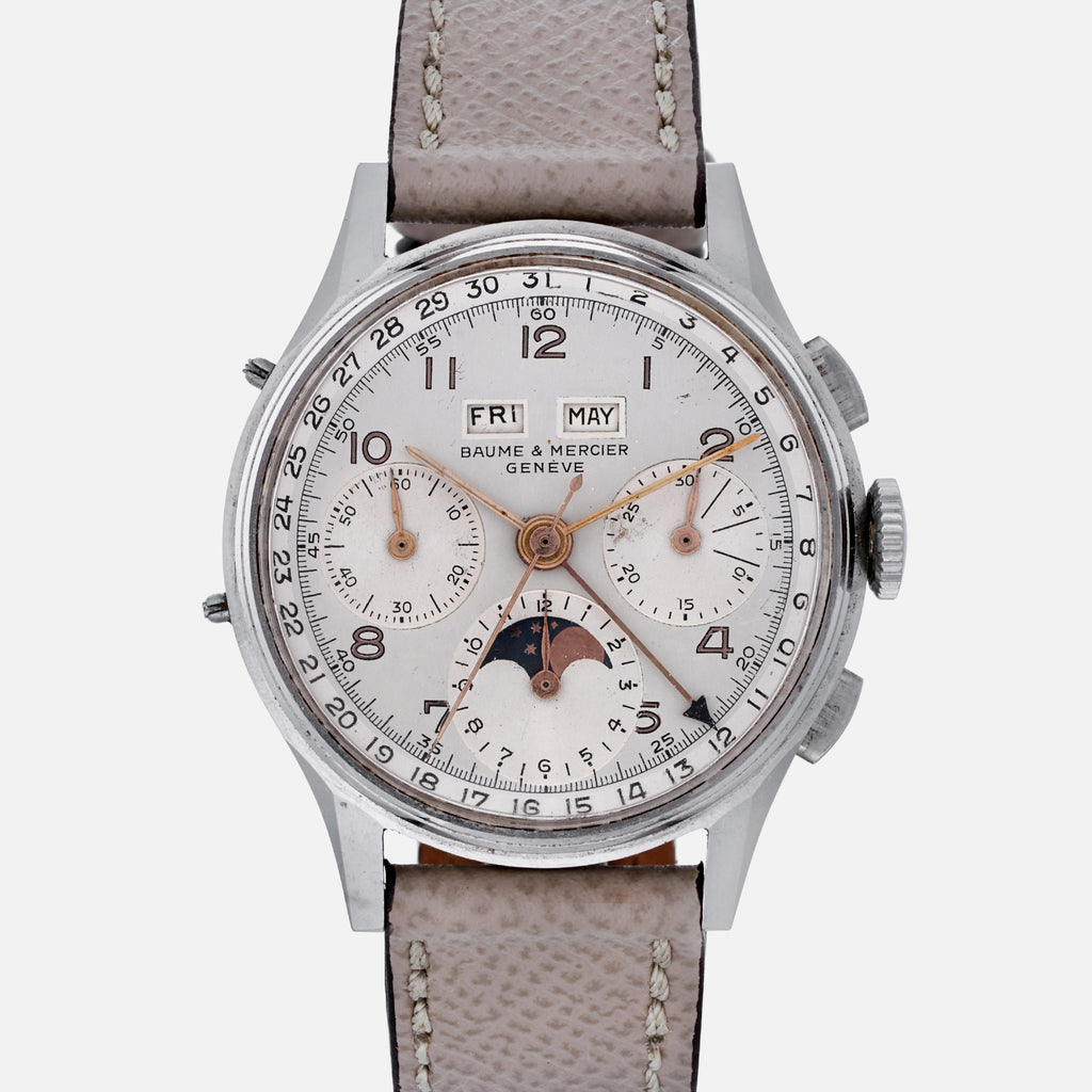 1950s Baume & Mercier Reference 1919 Triple-Calendar Chronograph With Moon-phase
