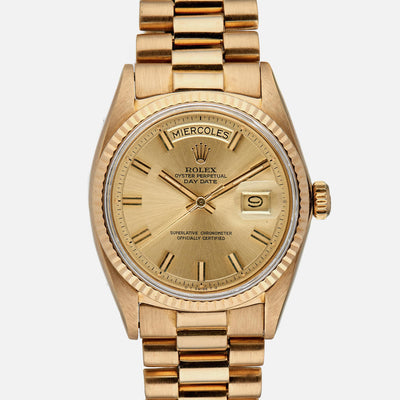 1970s Rolex Day-Date Reference 1803 In Yellow Gold