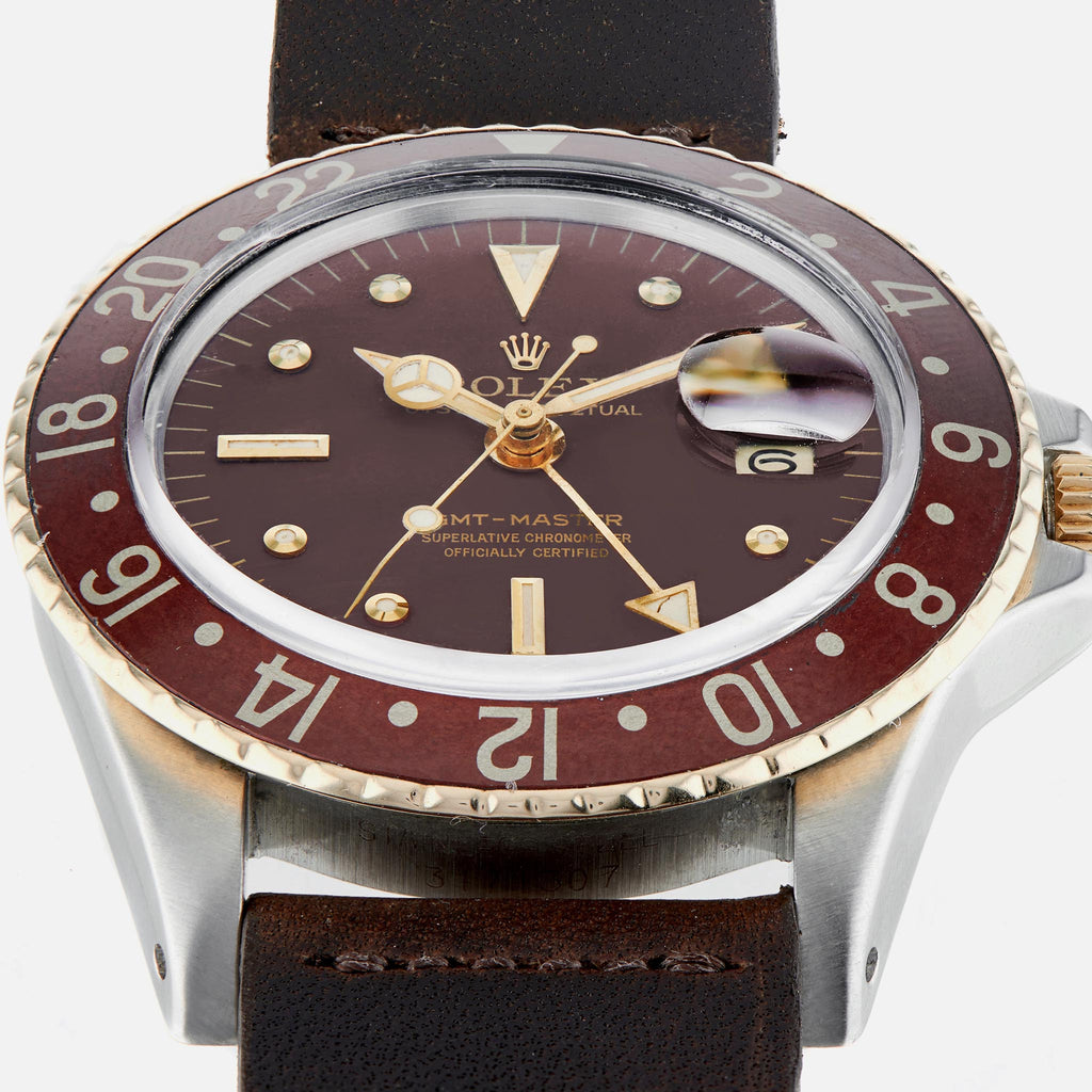 1970s Rolex GMT-Master 'Root Beer' With Nipple Dial