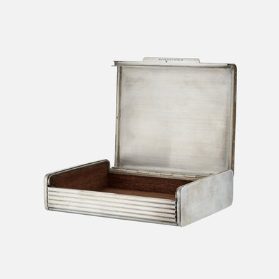 1950s Puiforcat Silver-Plated Cigarette Box