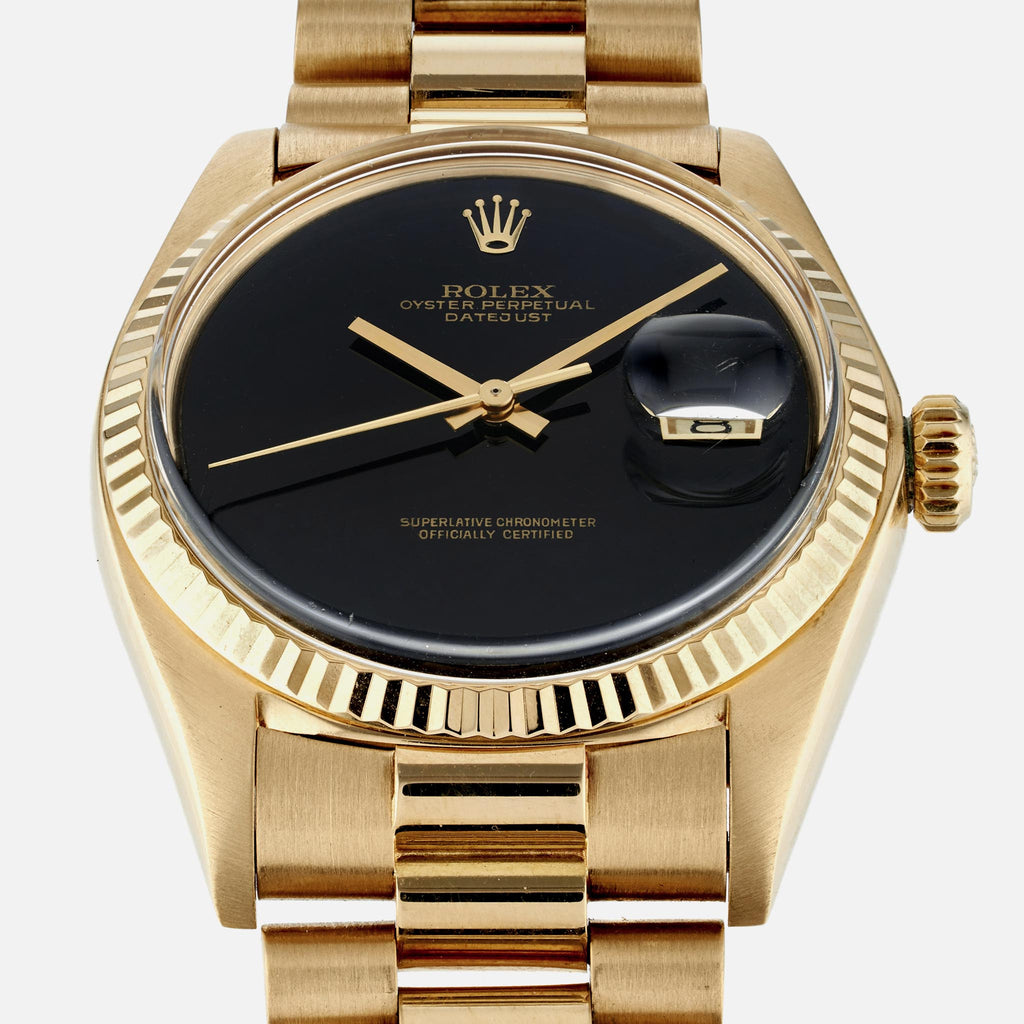 1974 Rolex Datejust Reference 1601 In Yellow Gold