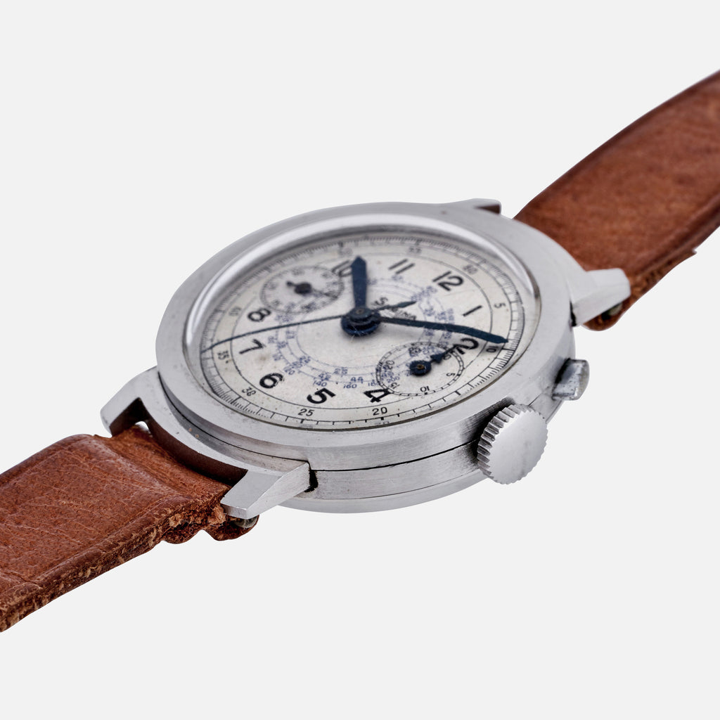 1940s Sabina Suisse Mono-Pusher Chronograph