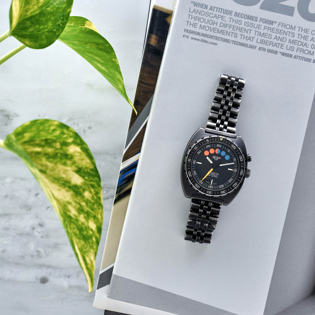 1980s Heuer Regatta Reference 134.601 In PVD-Coated Steel