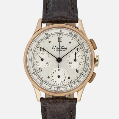 1940s Breitling Premier Chronograph Reference 787 In Rose Gold