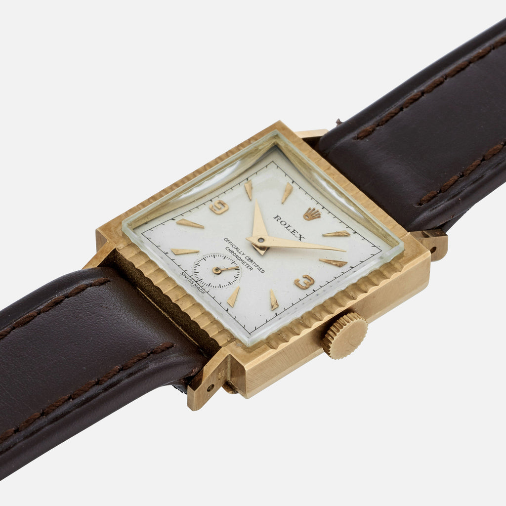 1940s Rolex Chronometer Reference 3737 In Yellow Gold