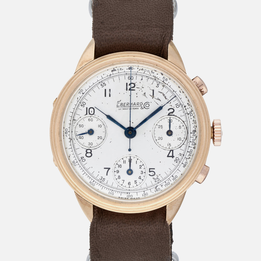 1940s Eberhard & Co. Pre-Extra Fort Chronograph In Rose Gold
