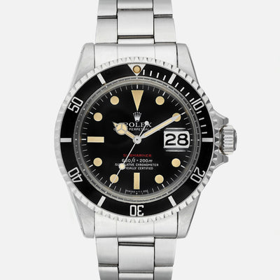 1972 Rolex Red Submariner Reference 1680, Complete With Box, Papers, & More