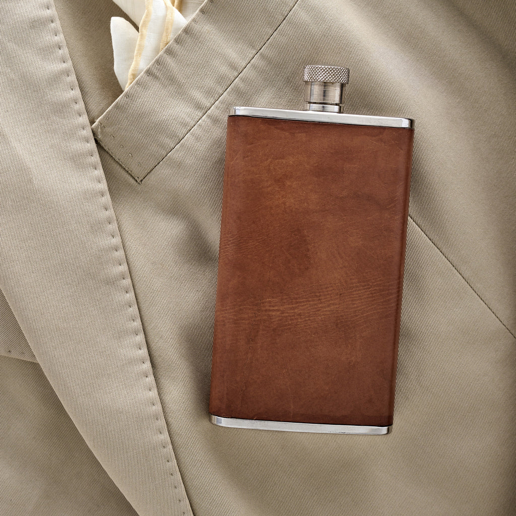 Stainless Steel And Leather Flask