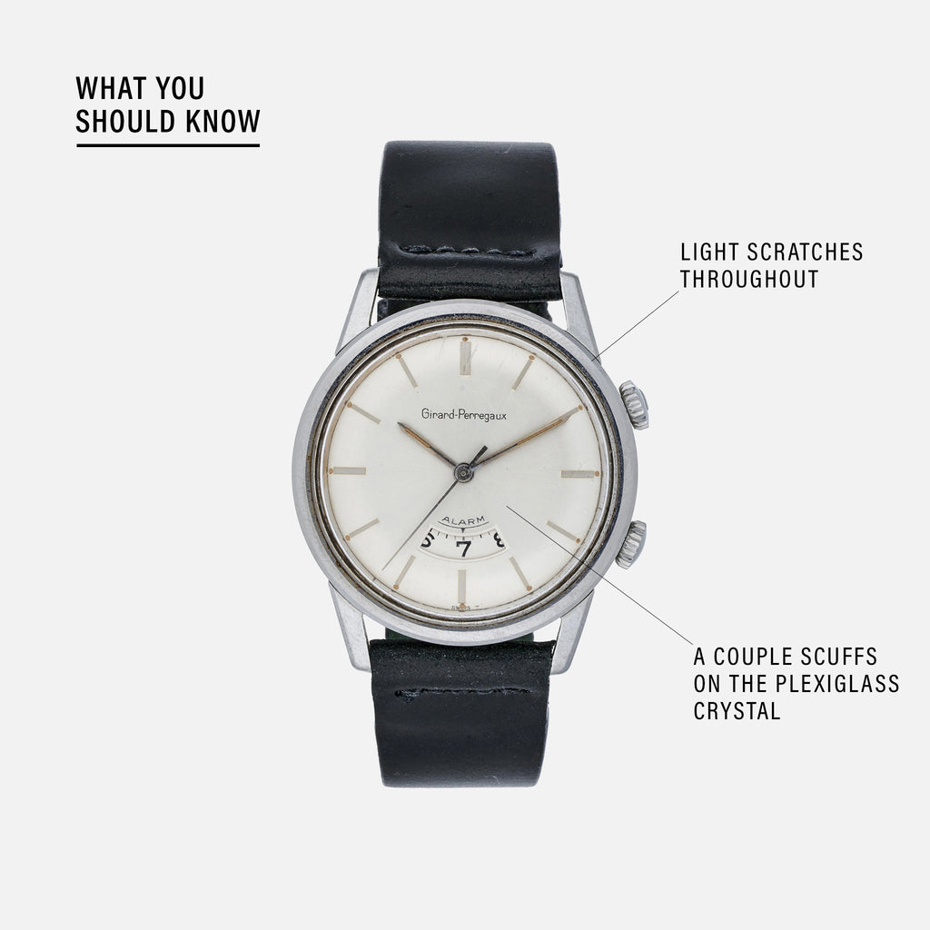 1960s Girard-Perregaux Alarm Watch Reference 7742
