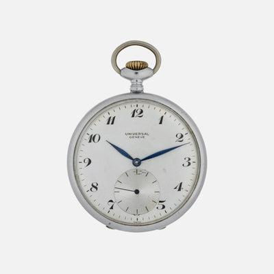 1920s Universal Genève Pocket Watch In Stainless Steel