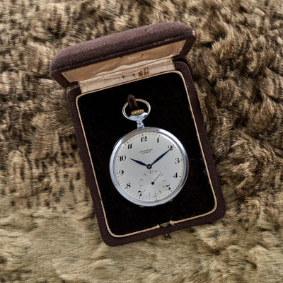 1920s Universal Genève Pocket Watch In Stainless Steel alternate image.